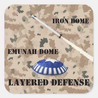 Layered Defense Square Sticker