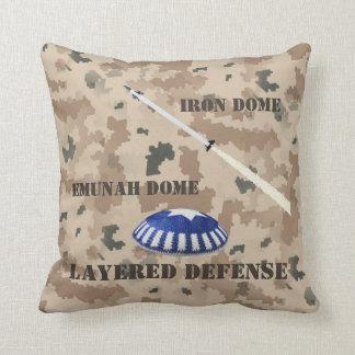 Layered Defense Throw Pillow