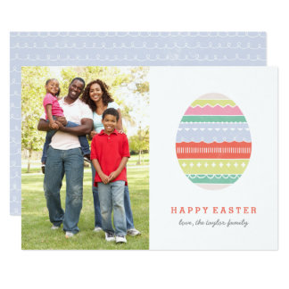 Layered Egg Easter Card - Crimson