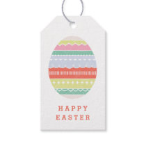 Layered Egg Gift Tag - Crimson