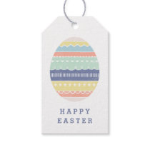 Layered Egg Gift Tag - Indigo
