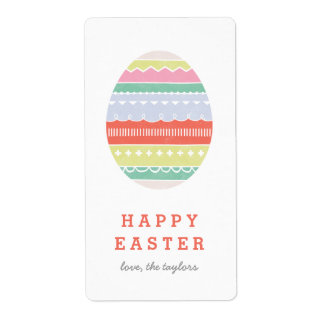 Layered Egg Gift Tag Label - Crimson Shipping Label