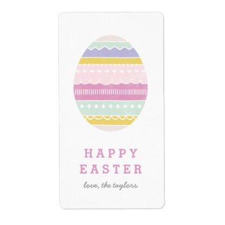 Layered Egg Gift Tag Label - Mauve Shipping Label