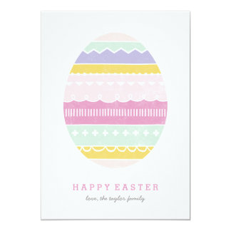 Layered Egg Non-Photo Easter Card - Mauve
