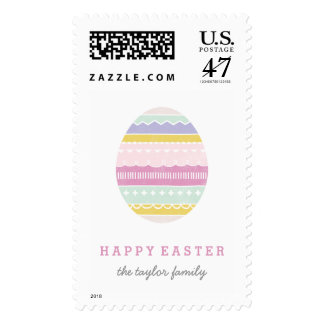 Layered Egg Postage Stamp - Mauve