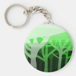 Layered forest keychain