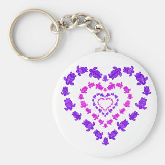 Layered Heart Key Chain