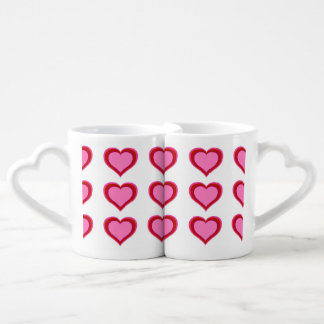 Layered Hearts Couples Coffee Mug