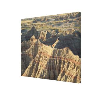 Layered Hoodoos of the Badlands 2 Canvas Print