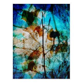 Layered Leaves Digital Photo Overlay Postcard