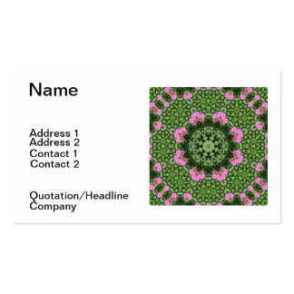 Layered Pink Lotus Mandala Business Cards