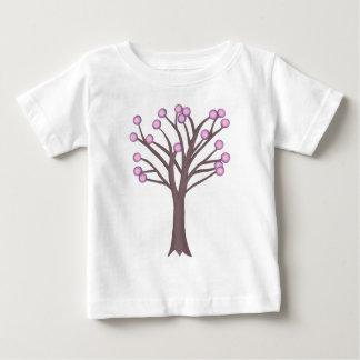 Layered Pink Polka Dots Tree Tshirts