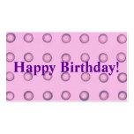 Layered Pink Purple Polka Dots Happy Birthday Tags Business Card