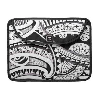 Layered Polynesian black tattoo design spearheads Sleeve For MacBook Pro