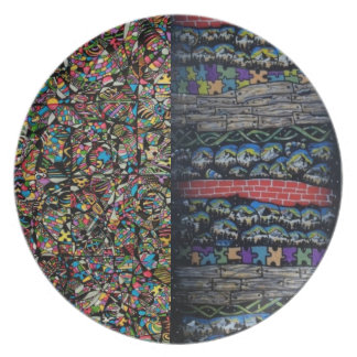 Layered Realms Decorative Plate