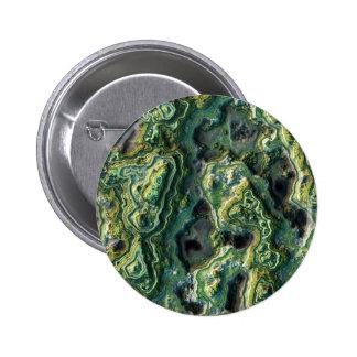 Layered Rock,green 2 Inch Round Button
