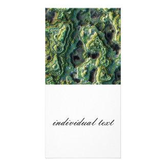 layered rock, green (I) Photo Card