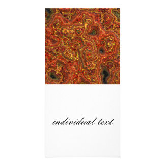 layered rock,red (I) Photo Card
