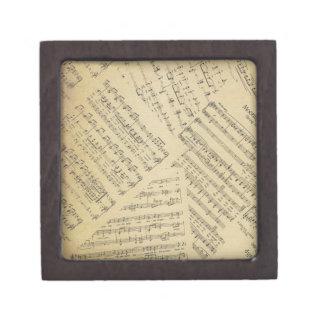 Layered Sheet Music Gift Box