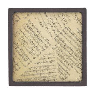 Layered Sheet Music Jewelry Box