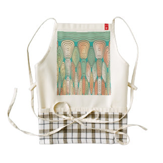 Layered squares zazzle HEART apron