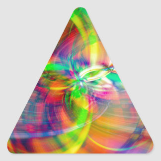 Layered Swirls Triangle Sticker