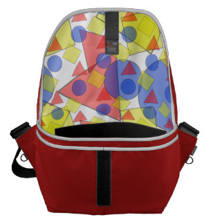 Layered Translucent Primary Shapes Messenger Bags