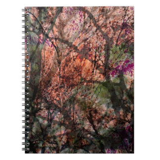 Layered Trees in Autumn Spiral Notebook