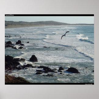 Layered Waves Print
