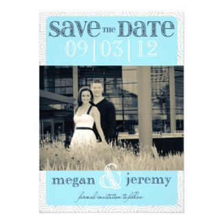 Layers - Custom Save the Date - Baby Blue Personalized Announcements