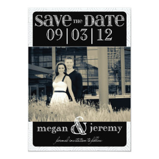 Layers - Custom Save the Date - Black & White Card