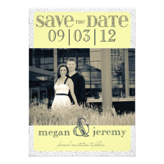 Layers - Custom Save the Date - Canary Invite