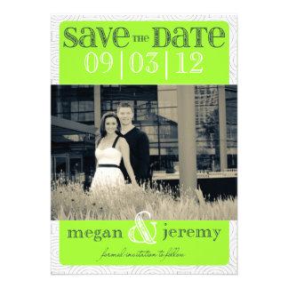 Layers - Custom Save the Date - Lime Custom Invite