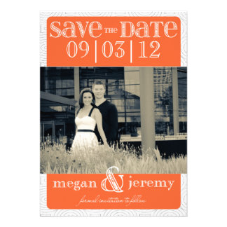 Layers - Custom Save the Date - Orange Personalized Invitations