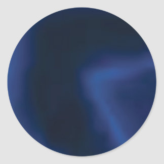 layers of blue classic round sticker