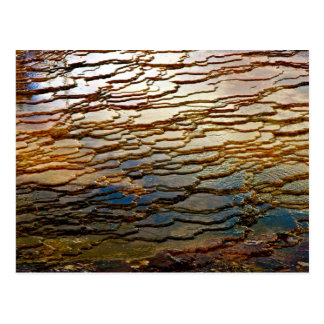 LAYERS OF COLORFUL VOLCANIC DEPOSITS POSTCARD