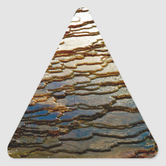 LAYERS OF COLORFUL VOLCANIC DEPOSITS TRIANGLE STICKER