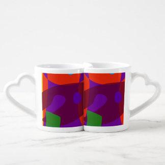 Layers of Colors Couples' Coffee Mug Set