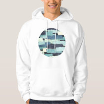 Layers of Colors Pattern Hoodie