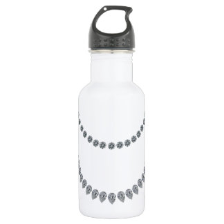 Layers of Diamonds Stainless Steel Water Bottle