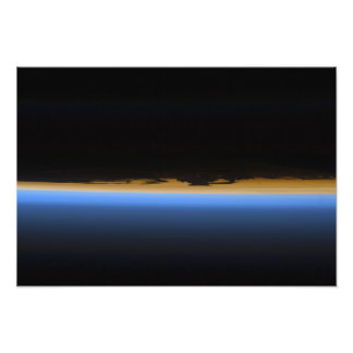 Layers of Earth's atmosphere Photo Print