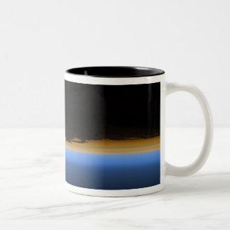 Layers of Earth's atmosphere Two-Tone Coffee Mug