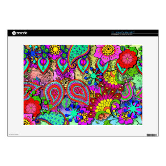"""Layers of Henna Paisley Decals For 15"""" Laptops"""