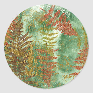 Layers of Leaves Classic Round Sticker