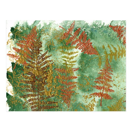 Layers of Leaves Postcard