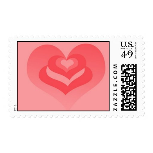 Layers of love heart stamp