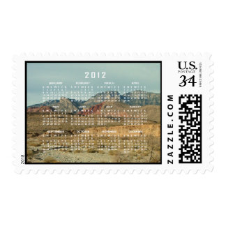 Layers of Red Rock; 2012 Calendar Postage Stamp