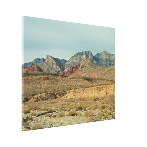 Layers of Red Rock Canvas Print