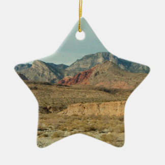 Layers of Red Rock Ceramic Ornament