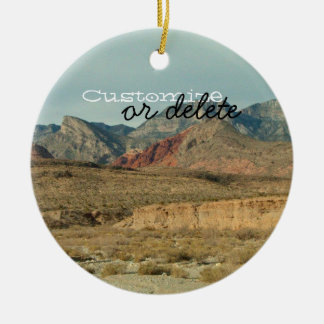 Layers of Red Rock; Customizable Ceramic Ornament